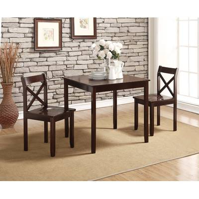 Chelmsford 3 Piece Dining Sets In Recent Wrought Studio Chelmsford 3 Piece Dining Set & Reviews (Gallery 1 of 20)