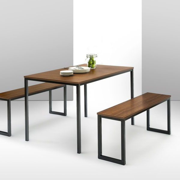 Chelmsford 3 Piece Dining Sets With 2019 Modern & Contemporary Dining Table And Bench Set (View 6 of 20)