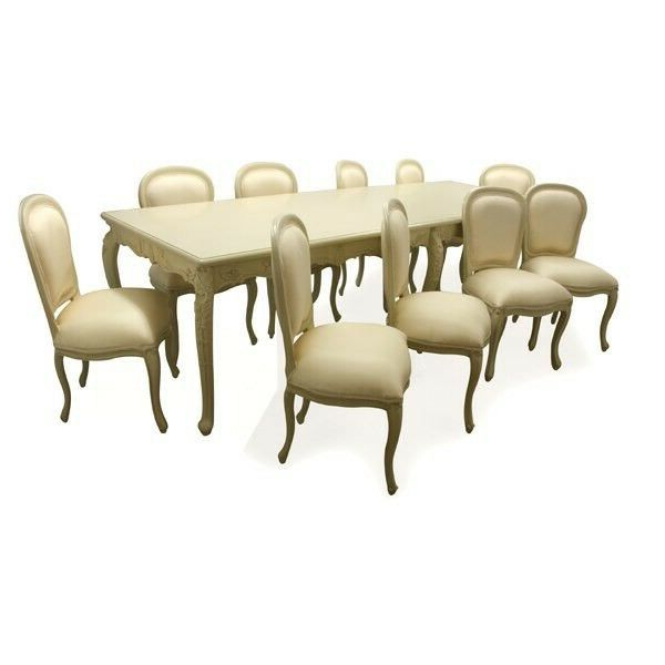 Chelmsford 3 Piece Dining Sets Within Well Liked French Shabby Chic 10 Seat Dining Table (Gallery 13 of 20)