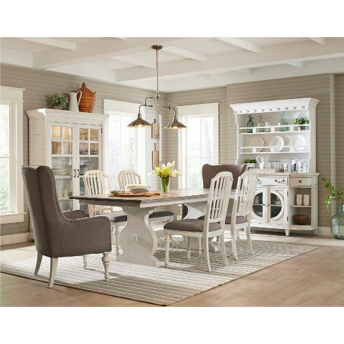 Clearance 5 Piece Dining Set – Hancock Park White And Weathered Oak In Favorite Mulvey 5 Piece Dining Sets (Gallery 5 of 20)