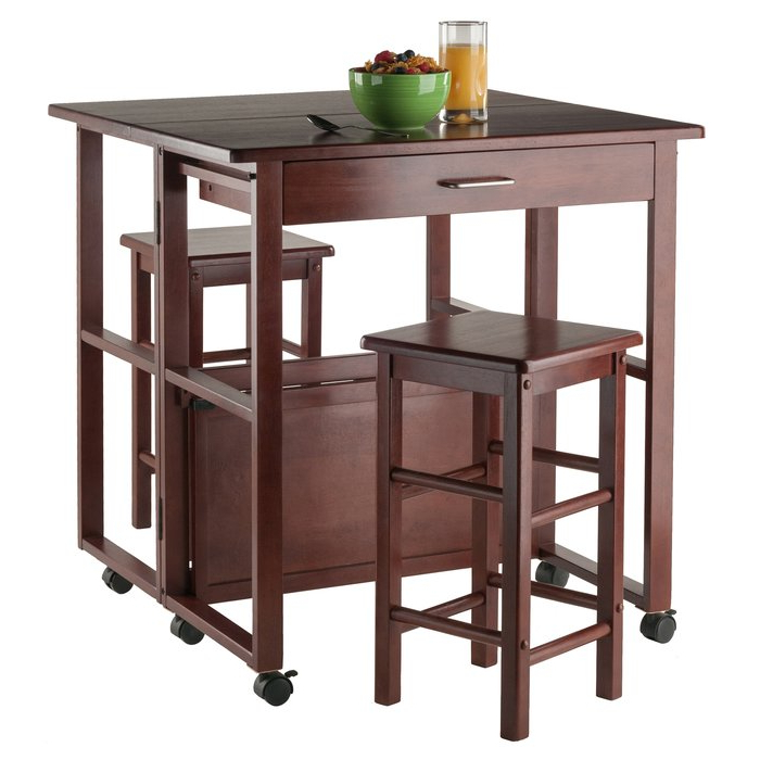Crownover 3 Piece Bar Table Sets In Famous Red Barrel Studio Crownover 3 Piece Bar Table Set & Reviews (View 5 of 20)