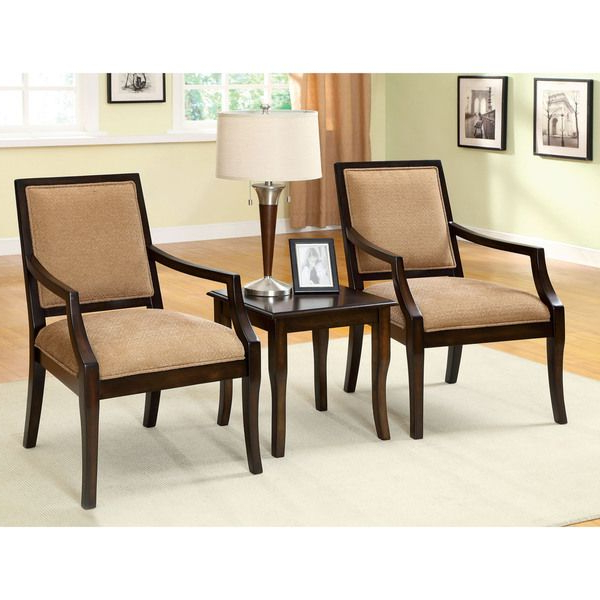 Current Furniture Of America Frieda 3 Piece Espresso Accent Table And Chair For Frida 3 Piece Dining Table Sets (View 17 of 20)