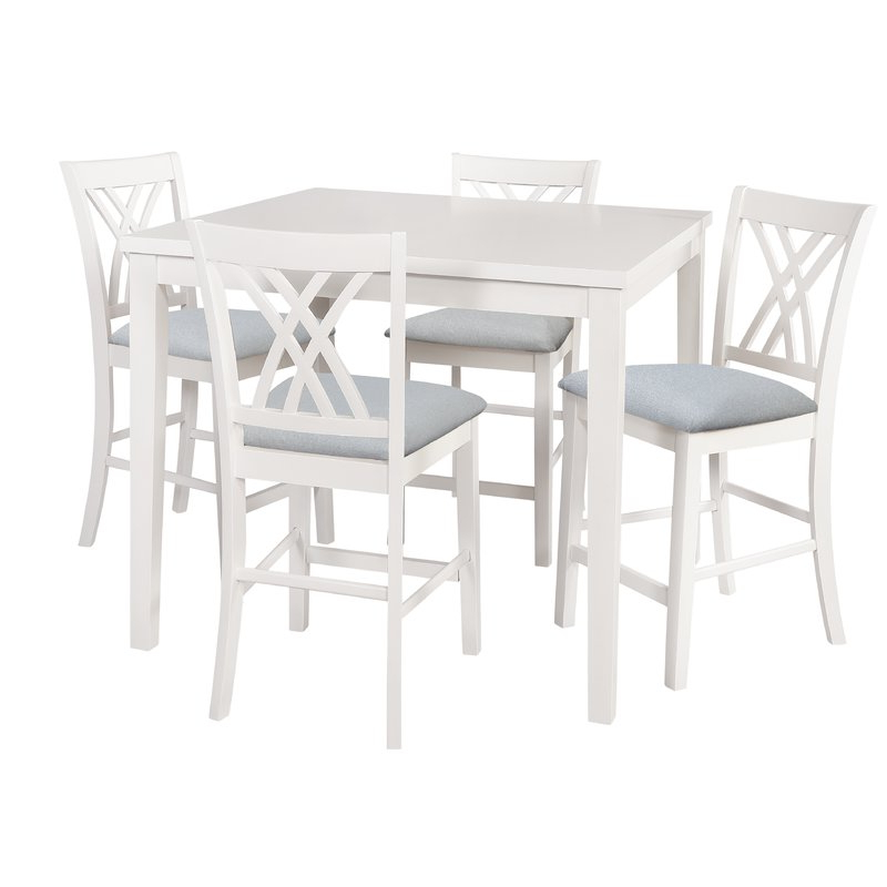 Current Gisella 5 Piece Breakfast Nook Dining Set With 5 Piece Breakfast Nook Dining Sets (View 7 of 20)