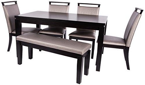 Current Home Source H 6050 6 6 Piece Dining Set 6, Dark Espresso (View 4 of 20)