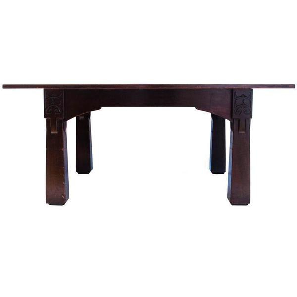 Current M H Baillie Scott A Cuban Mahogany Dining Table From The Liverpool Within Baillie 3 Piece Dining Sets (View 19 of 20)