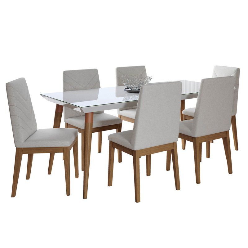 Current Maynard 5 Piece Dining Sets Throughout Lemington 7 Piece Solid Wood Dining Set (Gallery 11 of 20)