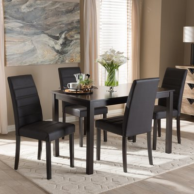 Current Wiggs 5 Piece Dining Sets In Ebern Designs Petrillo 5 Piece Dining Set (Gallery 11 of 20)