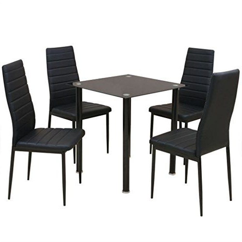 Daonanba Modern Style Dining Set Durable Stable Table Set Home Decor With Regard To Most Recent Sundberg 5 Piece Solid Wood Dining Sets (View 18 of 20)