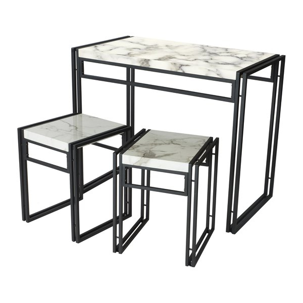 Debby Small Space 3 Piece Dining Set & Reviews (View 3 of 20)