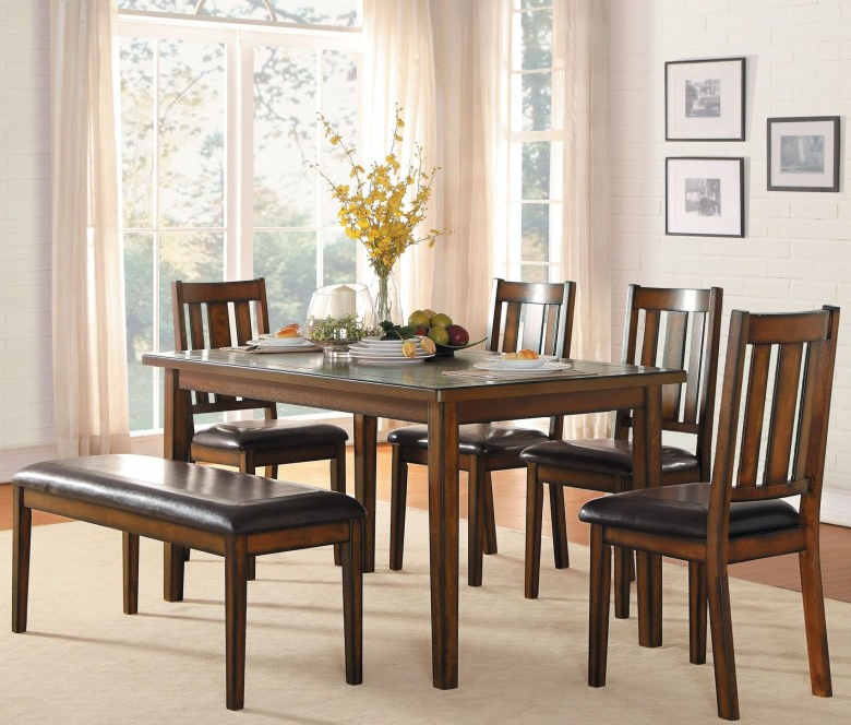 Delmar 5 Piece Dining Sets With Regard To Fashionable Delmar Burnished Brown 6 Piece Dining Room Set – 1Stopbedrooms (View 7 of 20)