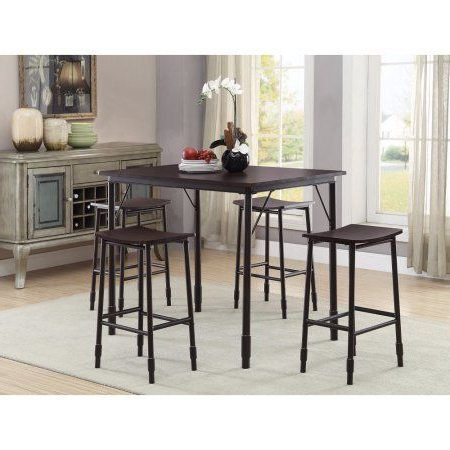 Denzel 5 Piece Counter Height Breakfast Nook Dining Set (View 4 of 20)