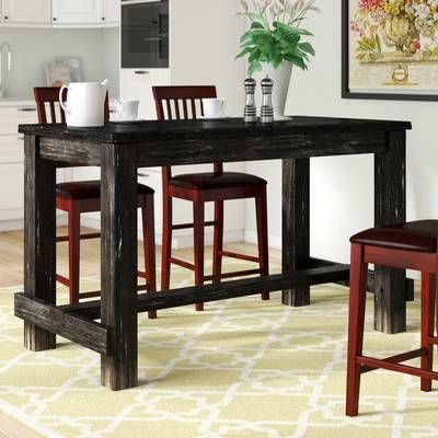 Denzel 5 Piece Counter Height Breakfast Nook Dining Sets Regarding Well Liked Calila Counter Height Pub Table (View 7 of 20)