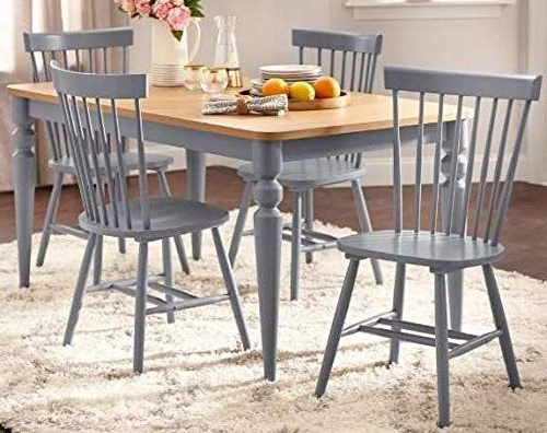 Dinette Sets For Small Spaces Dinning Room Table Set Five Piece Gray For Recent Noyes 5 Piece Dining Sets (View 5 of 20)