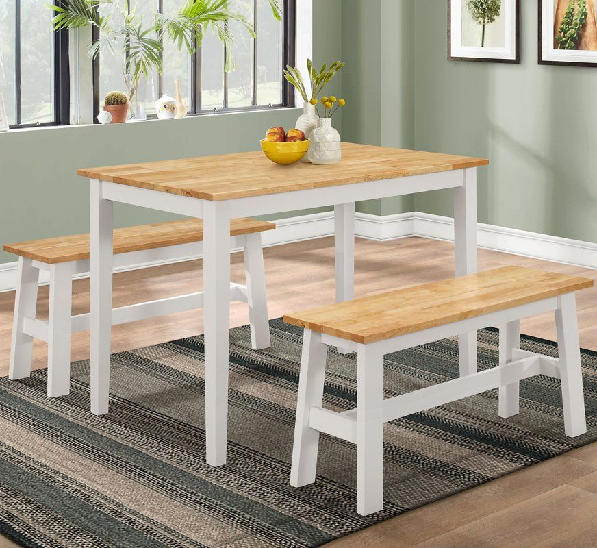 Dining, Dining Set, 3 Piece In Kaya 3 Piece Dining Sets (View 3 of 20)