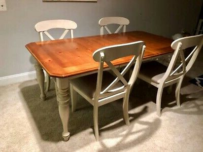 Dining Set With Table 4 Chairs Stable Kitchen Furniture Diy 5 Pieces Intended For Widely Used Tavarez 5 Piece Dining Sets (View 5 of 20)