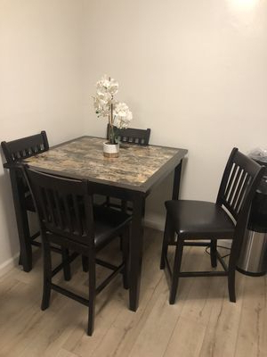 Dining Table For Sale – Offerup Pertaining To Most Current Falmer 3 Piece Solid Wood Dining Sets (View 3 of 20)