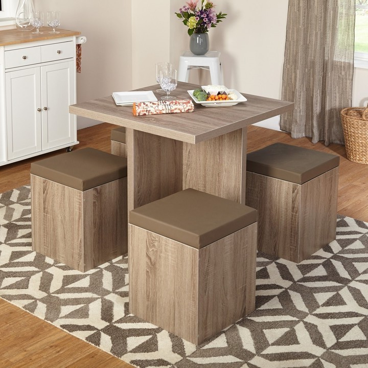 Dining Tables For Small Spaces – Small Spaces – Lonny With Regard To Recent Taulbee 5 Piece Dining Sets (Gallery 13 of 20)