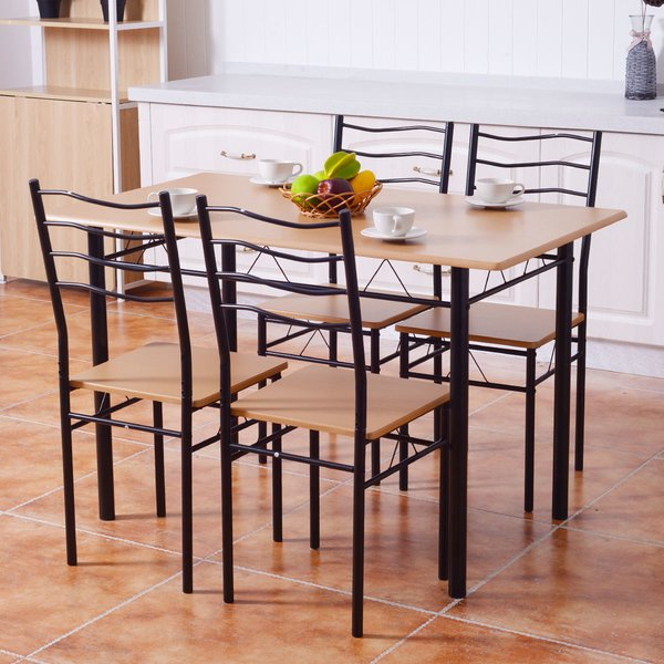 Discount Faust 7 Piece Dining Setorren Ellis With Well Liked Casiano 5 Piece Dining Sets (Gallery 6 of 20)