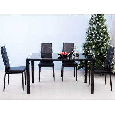 Ebern Designs Maynard 5 Piece Dining Set Intended For Latest Maynard 5 Piece Dining Sets (Gallery 4 of 20)