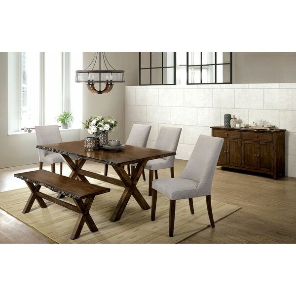 Emmeline 5 Piece Breakfast Nook Dining Sets For Favorite Pillar 7 Piece Solid Wood Dining Setaugust Grove Amazing On (View 10 of 20)