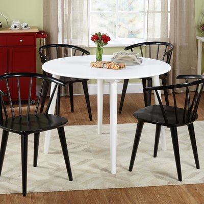 Emmeline 5 Piece Breakfast Nook Dining Sets With Most Up To Date Mercury Row Calderone 5 Piece Dining Set Chair Finish: Black (View 14 of 20)