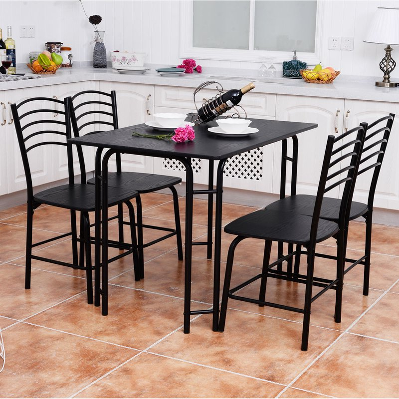 Ephraim 5 Piece Dining Sets For Well Liked Winston Porter Ephraim 5 Piece Dining Set & Reviews (View 5 of 20)