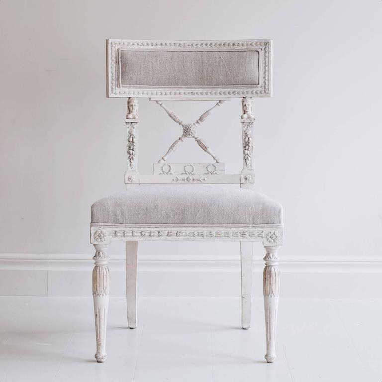 Ephraim 5 Piece Dining Sets In Most Up To Date Set Of Eight Swedish 19Th Century Gustavian Dining Chairs For Sale (View 6 of 20)