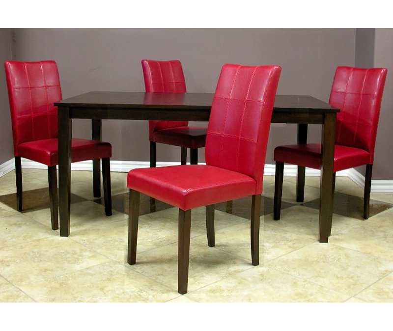 Evellen 5 Piece Solid Wood Dining Sets (Set Of 5) Inside Most Recently Released Warehouse Of Tiffany Evellen 5 Piece Solid Wood Dining Set (View 5 of 20)