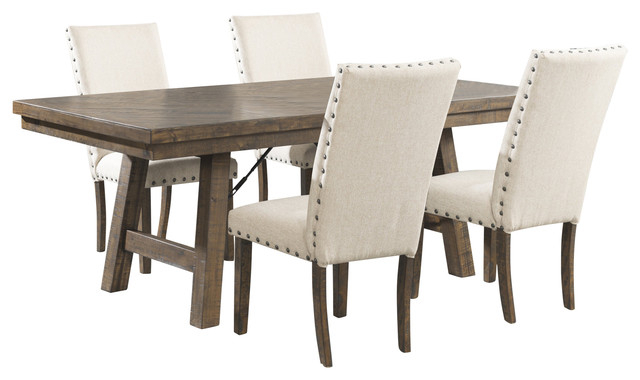 💯buy Accra Walnut Pedestal Table In Well Known Adan 5 Piece Solid Wood Dining Sets (Set Of 5) (View 20 of 20)