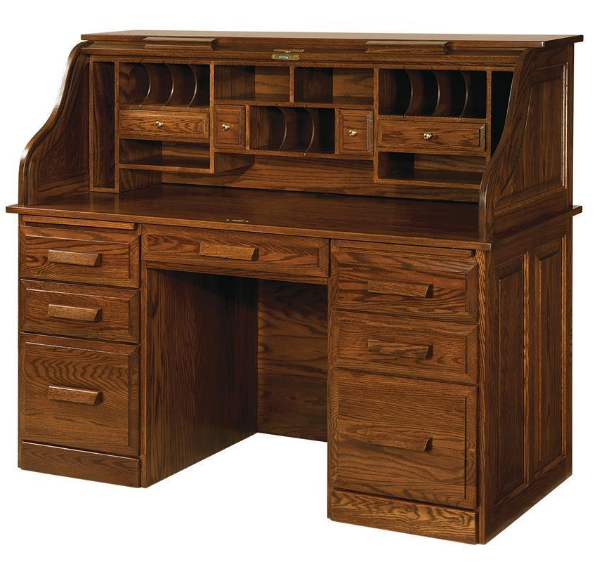 Falmer 3 Piece Solid Wood Dining Sets For Fashionable Classic Farmer's Rolltop Desk From Dutchcrafters Amish Furniture (View 4 of 20)