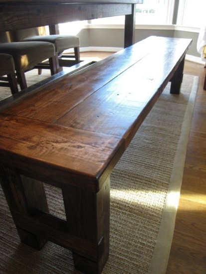 Falmer 3 Piece Solid Wood Dining Sets Regarding Newest Diy Plans To Build The Matching Farmhouse Bench (Goes With Farmhouse (View 6 of 20)