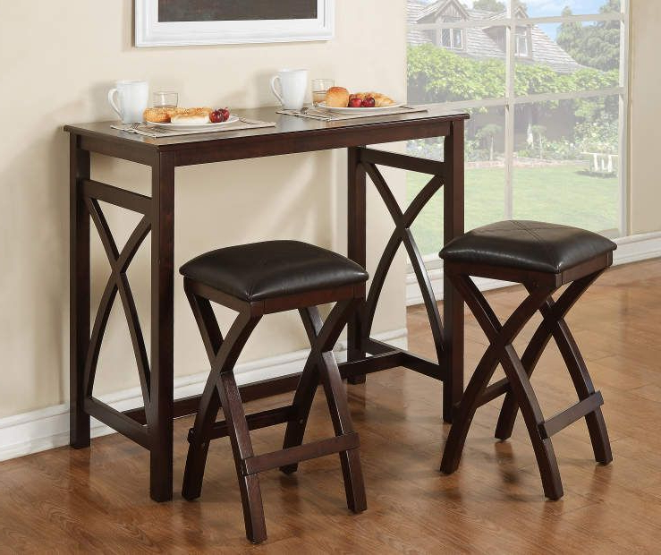 Famous 3 Piece Breakfast Dining Sets With Regard To 3 Piece Breakfast Dining Set At Big Lots. (Gallery 13 of 20)