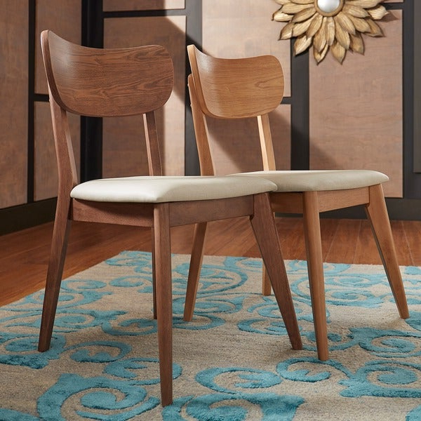 Famous Penelope 3 Piece Counter Height Wood Dining Sets With Shop Penelope Danish Modern Tapered Leg Dining Chair (Set Of 2 (Gallery 9 of 20)