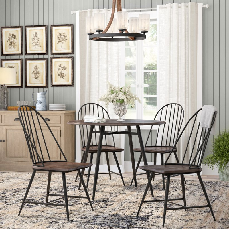 Famous Wiggs 5 Piece Dining Sets Inside Hughley 5 Piece Dining Set & Reviews (Gallery 6 of 20)