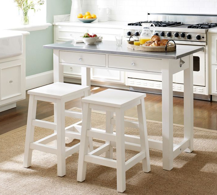 Fashionable Balboa Wood & Stainless Steel Counter Height Table & Stools, White Pertaining To Winsted 4 Piece Counter Height Dining Sets (Gallery 14 of 20)