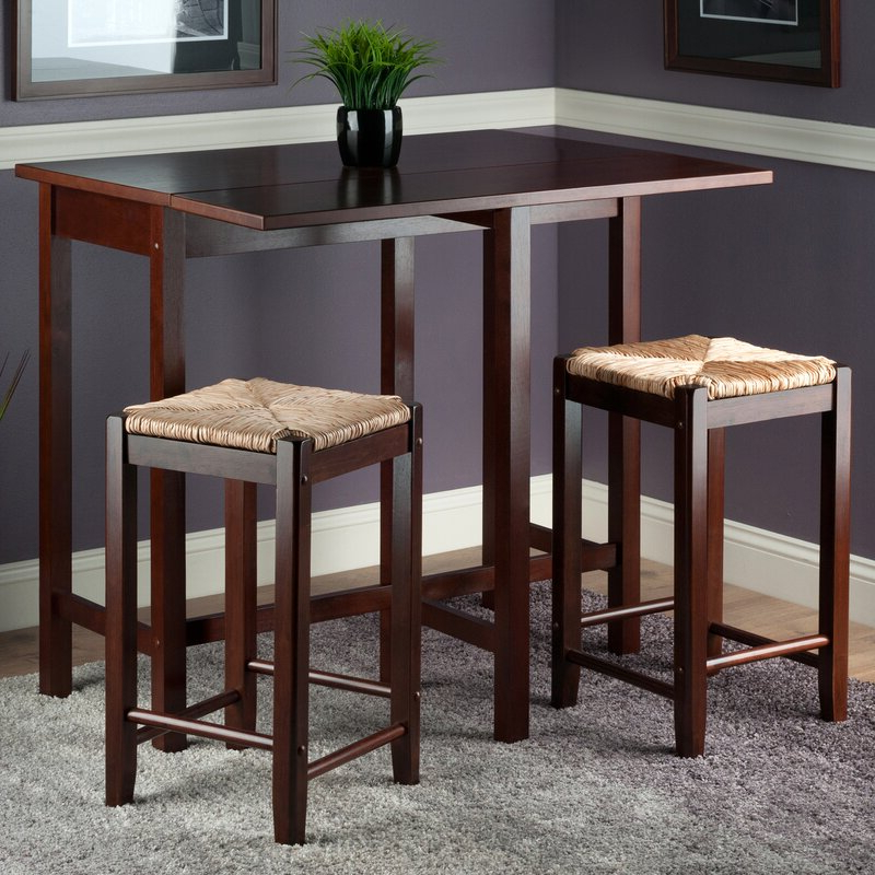 Fashionable Bettencourt 3 Piece Counter Height Dining Sets In Red Barrel Studio Bettencourt 3 Piece Counter Height Solid Wood (View 9 of 20)