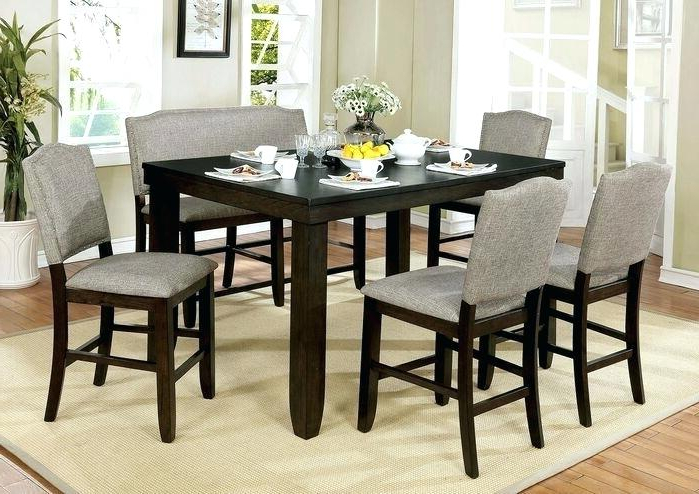 Fashionable Counter Height Nook Set – Gtres.co Throughout Denzel 5 Piece Counter Height Breakfast Nook Dining Sets (Gallery 4 of 20)
