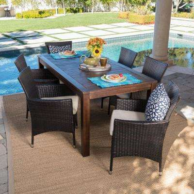 Fashionable Wood – Patio Furniture – Outdoors – The Home Depot In Northwoods 3 Piece Dining Sets (View 8 of 20)