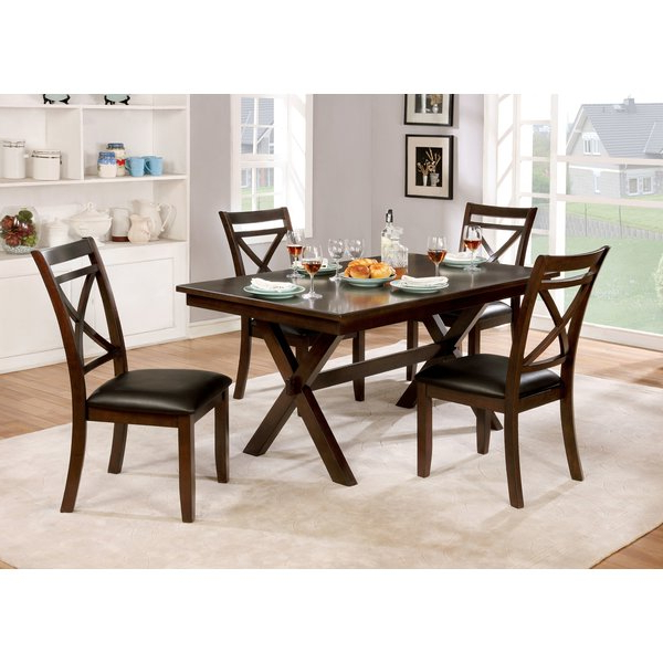 Favorite Adan 5 Piece Solid Wood Dining Sets (Set Of 5) Intended For Bexley 5 Piece Dining Setalcott Hill On (Gallery 11 of 20)