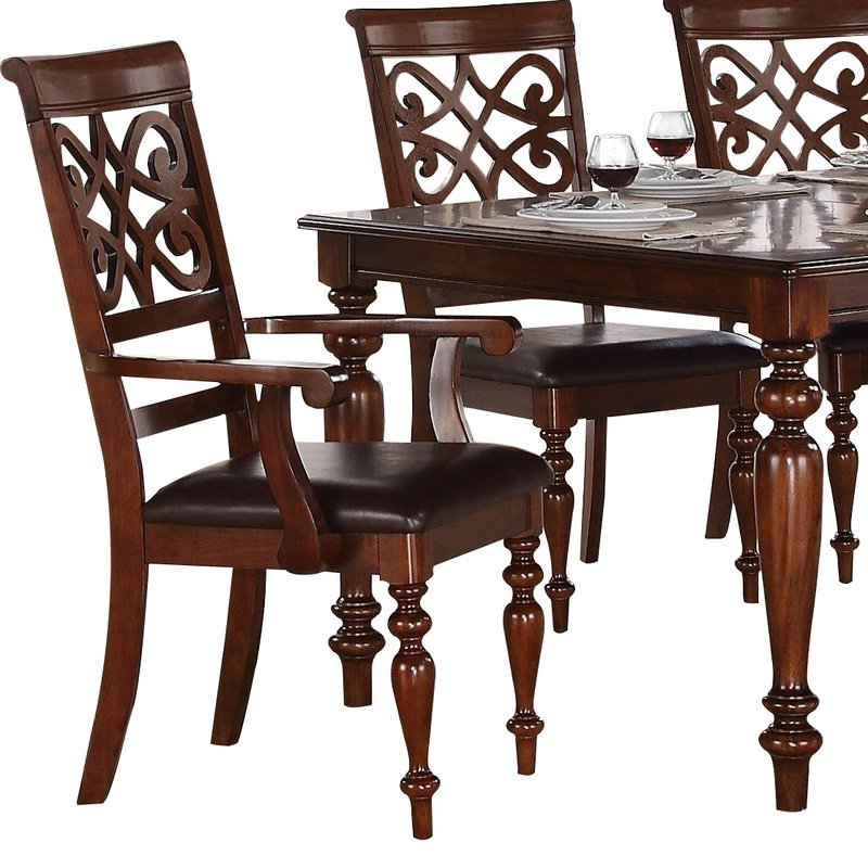 Favorite Laconia 7 Pieces Solid Wood Dining Sets (Set Of 7) Inside Darby Home Co Leith 7 Piece Dining Set & Reviews (Gallery 9 of 20)