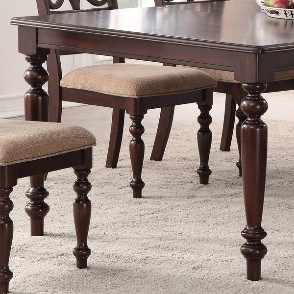 Favorite Laconia 7 Pieces Solid Wood Dining Sets (set Of 7) Regarding Shop Home Source Laconia Walnut 5 Piece Dining Set – Free Shipping (View 7 of 20)