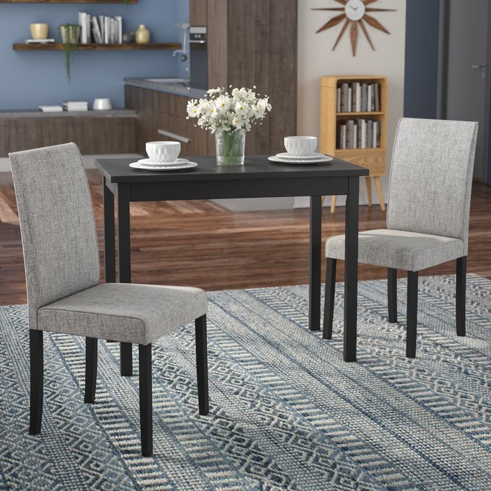 Favorite Latitude Run Darvell 3 Piece Dining Set & Reviews (View 6 of 20)