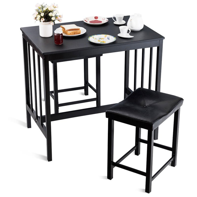 Favorite Miskell 3 Piece Dining Sets Throughout Winston Porter Miskell 3 Piece Dining Set (View 7 of 20)