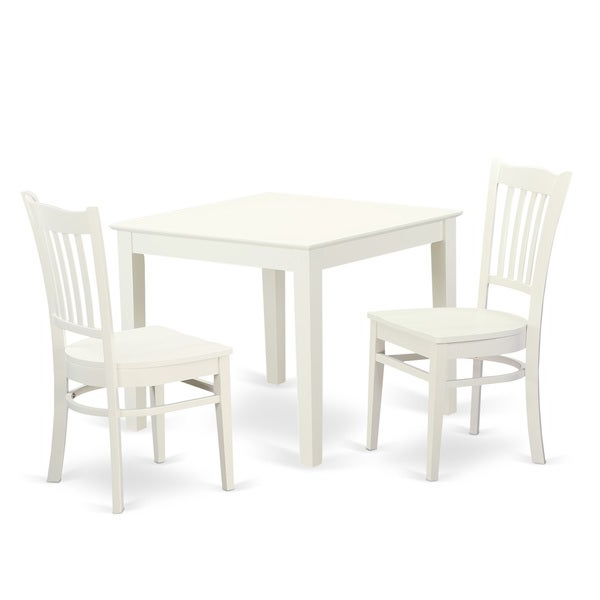 Favorite Shop Oxgr3 W 3 Piece Breakfast Nook Table And 2 Wood Dining Room For 3 Piece Breakfast Nook Dinning Set (View 11 of 20)