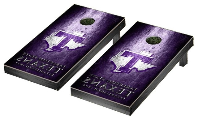 Favorite Tarleton 5 Piece Dining Sets With Regard To Tarleton State University Texans Cornhole Game Set, Museum (View 17 of 20)