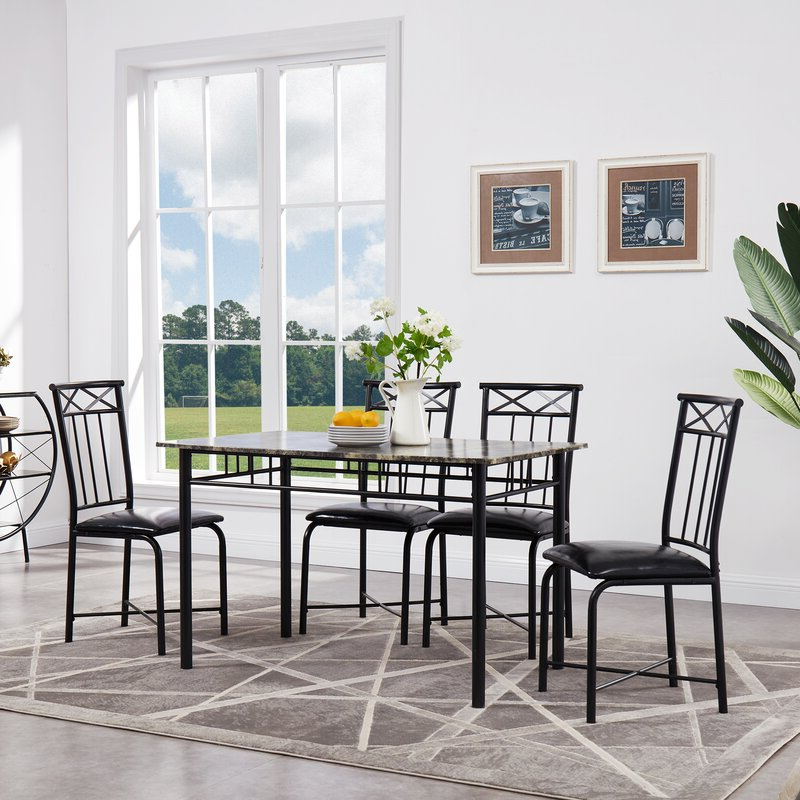Fleur De Lis Living Register 5 Piece Dining Set & Reviews (View 7 of 20)