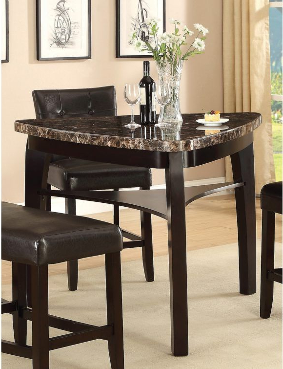 Furniture Contemporary Triangular Dining Room Table With Clear Glass In Most Recently Released Hood Canal 3 Piece Dining Sets (View 5 of 20)