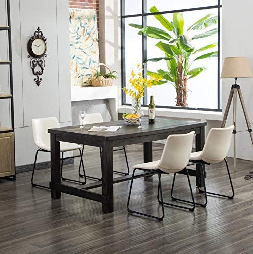 Furnituremaxx Bronco Antique Wood Finished Dining Set: Table Four For Most Up To Date Valladares 3 Piece Pub Table Sets (View 3 of 20)