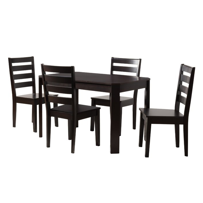 Featured Photo of Goodman 5 Piece Solid Wood Dining Sets (Set Of 5)