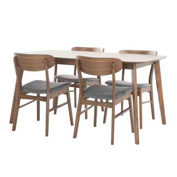 Goodman 5 Piece Solid Wood Dining Sets (Set Of 5) Throughout Most Recently Released Modern Metal Dining Room Sets (View 6 of 20)